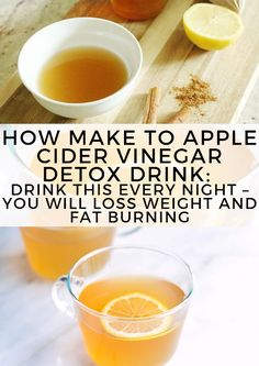 How Make to Apple Cider Vinegar Detox Drink: Drink This Every Night You Will Loss Weight and Fat Burning Health diet loss weight Health Homemade Health Detox Water Apple Cider Vinegar Weight Loss Meals, Weight Loss Drinks, Weight Loss Smoothies, Detox For Weight Loss, Apple Cider Vinegar Benefits, Apple Cider Vinegar Detox, Apple Cider Vinegar Challenge, Apple Cider Diet, Apple Cider Vinegar Remedies