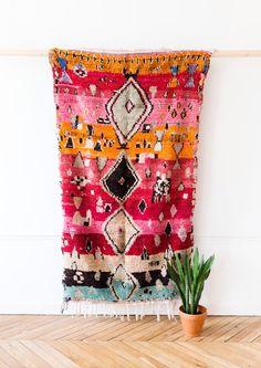 "Vintage Moroccan Berber Rug, ""The Tallulah,"" Boujad Rug, Pink Rug, Red Rug, Faded Rug, Colorful Rug, Bohemian Decor, Boho Rug, Turkish Rug by LoomAndField on Etsy https://www.etsy.com/listing/490556587/vintage-moroccan-berber-rug-the-tallulah"