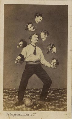 De Torbéchet, Allain & C. Man Juggling His Own Head -freakshow