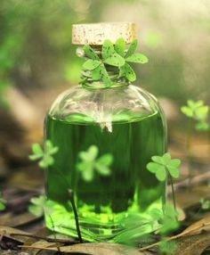 Liquid Luck By *Sarah-BK holidays st patrick's day craft tradition ireland paddy's day Go Green, Green Colors, Green Life, Terra Verde, Liquid Luck, Irish Cottage, Four Leaves, Irish Eyes, Luck Of The Irish