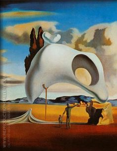 Atavistic Ruins after the Rain 1934 By Salvador Dali - Oil Paintings & Art Reproductions - Reproduction Gallery