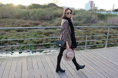 Hat, Plaid Blazer, Outfit, Look, Street Style, Fashion, Fashion Blog