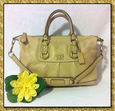 Coach Madison Sabrina Leather Convertible Satchel Bag Handbag Purse #12937 Beige | Clothing, Shoes & Accessories, Women's Handbags & Bags, Handbags & Purses | eBay!