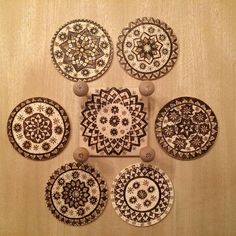 Image result for pyrography coaster Pyrography, Conservatory, Coasters, Decorative Plates, Image, Home Decor, Decoration Home, Room Decor, Winter Garden