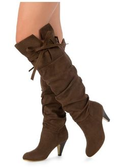 For a small casual heel, these boots are just what my newly found long legs need for chasing around town!!  I luv 'em!