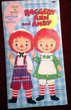 RAGGEDY ANN AND ANDY flip a page book