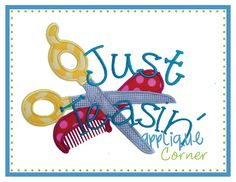 Just Teasin' Applique Design My daughter is a stylist. This is perfect for her!