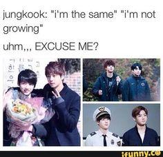 Puberty hit Jungkook so hard..