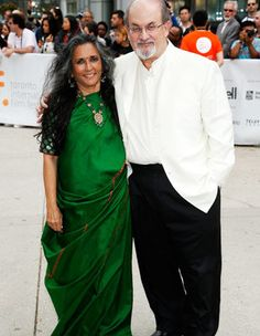 Deepa Mehta and Salman Rushdie.  Love Deepa. She's a director that has directed an installment including Earth, Fire, and Water. Seriously empowering films.