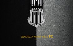 Download wallpapers Sandecja Nowy Sacz FC, 4k, football, emblem, logo, Polish football club, leather texture, Ekstraklasa, Nowy Sacz, Poland, Polish Football Championships