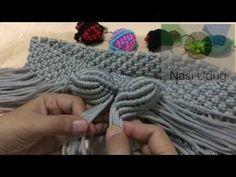 Tas tali kur motif ke 23 by nasiudug – makramee Crochet Wallet, Crochet Purses, Macrame Purse, Macrame Knots, Crochet Simple, Purse Tutorial, Bracelet Tutorial, Crochet Baby Cardigan, Micro Macramé