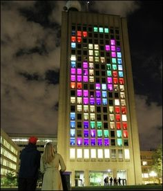 Hackers change the MIT building into a Tetris Game | Geek - Cambridge