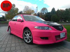 Hot Pink Mazda 6 - DipWrap