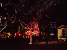 "The spirit of the season captured in lights at the ""Christmas Ranch"" in Cleveland, TX http://www.christmasranch.com/"