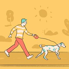Santi&Pai Drawing Challenge - Day 4: Paseo #dogwalk #dalmatian #dogs #dogsofinstagram #puppy #drawing #illustration #drawingaday #graphicdesign #colors