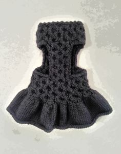 Dog Dress| Pet Clothing | Hand Knit Dog Clothes | Pet Top | Dog Clothing by BubaDog Handknit mixed wool / acrilyc yarn pet dress. This puppy clothes is very comfortable, easy to put on your pet. Custom dress clothing for small dogs. 100% Hand knit and designed by BubaDog. ********Please