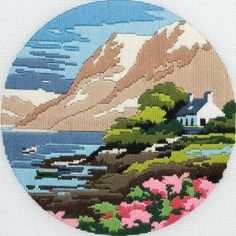 The Pikes Anchor Long Stitch Kit Kit contains: 12 count outline printed canvas, Anchor Tapisserie wool, needle and full instruction Bargello Needlepoint, Needlepoint Pillows, Needlepoint Stitches, Cross Stitch Kits, Cross Stitch Designs, Cross Stitch Patterns, Embroidery Art, Cross Stitch Embroidery, Cross Stitch Landscape