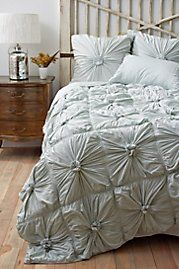 #Anthropologie #Texture I was inspired by this and got bed coveringjust like this in gray, love it!