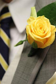 6 groomsmen/2 page boys= yellow rose boutonnieres