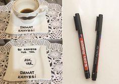 Damat kahve fincani Wedding Favors, Diy Wedding, Name Art, Wedding Hairstyles, Diy Crafts, Engagement, Mugs, Bride, Party