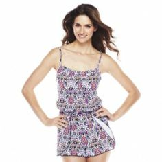 7869595747c79 A Shore Fit Hip Solutions Swim Romper - Women's Rompers Women, Kohls, Swim,