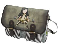 Santoro Gorjuss On Top Of The World Satchel Shoulder Bag Cute Uni School Goth Santoro London, What A Girl Wants, Lifestyle Store, Top Of The World, Hush Hush, Bag Accessories, Messenger Bag, Goth, Shoulder Bag
