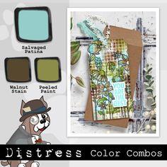 DISTRESS Color Combos: Salvaged Patina - Simon Says Stamp Blog