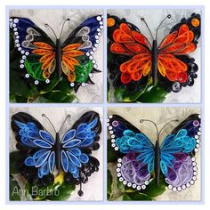 12 Awesome Paper Quilling Jewelry Designs To Start Today – Quilling Techniques Quilling Butterfly, Paper Quilling Flowers, Paper Quilling Patterns, Paper Quilling Jewelry, Origami And Quilling, Quilled Paper Art, Quilling Paper Craft, Quilling Craft, Quilling Ideas