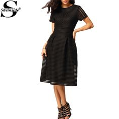 # Lowest Price Sheinside Women Beautiful Cheap Dresses 2016 Latest Fashionable Black Short Sleeve Hollow Out Flippy Round Neck Midi Dress [7JtVNihz] Black Friday Sheinside Women Beautiful Cheap Dresses 2016 Latest Fashionable Black Short Sleeve Hollow Out Flippy Round Neck Midi Dress [h3EpL9D] Cyber Monday [UMrni8]