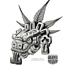 Aztec Tattoos Sleeve, Best Sleeve Tattoos, Body Art Tattoos, Tattoo Design Drawings, Art Drawings, Quetzalcoatl Tattoo, Aztec Drawing, Aztec Symbols, Mexican Art Tattoos