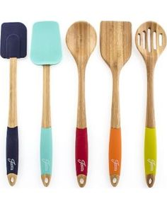 5-pc. Bamboo Silicone Utensil Set