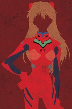 The Beautiful Asuka Langley - 19 Anime Characters Transformed Into Minimalistic Art