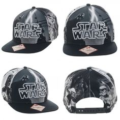 New Star Wars Black White Sublimated Character Snapback Hat Cap LOGO  Costume Hat  StarWars  BaseballCap 5d8459a5e917