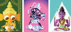 Art Divine: Hindu Mythologies in Pop Art style illustrations by Sanjay Patel of Pixar Studio