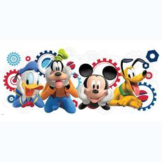Disney Mickey Mouse Clubhouse Removable Wall by DecalsAndBeyond