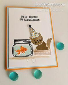 Papierkreationen.net: Said the cat to the goldfish ...