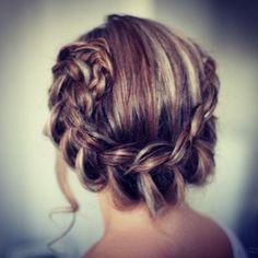 Braided hair. Pretty hair color