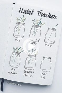 Looking to start a new routine or need motivation to follow through? Set up a bullet journal habit tracker and get things done with these fun ideas! #bulletjournal #bulletjournalpages Bullet Journal Tracker, Bullet Journal Graph, Bullet Journal Goals Page, Goal Journal, Bullet Journal Quotes, Bullet Journal Notebook, Bullet Journal Inspo, Bullet Journal Spread, Bullet Journal Ideas Pages