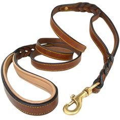 Soft Touch Collars, 6 Foot Braided Leather Dog Leash with Traffic Handle, Two Handles for Training and Safety, Double your Control with 2 Locations, Lead for Large and Medium Dogs Brown x Inch *** Check out this great product. (This is an affiliate link) German Shepherd Memes, German Shepherds, Dog Nails, Leather Dog Collars, Medium Dogs, Collar And Leash, Braided Leather, Dog Leash, Dog Accessories