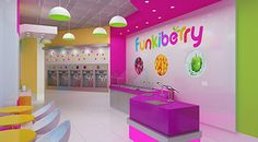 Funkiberry Frozen Yogurt Shop Design and Branding – Commerical Interior Design News
