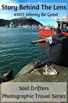"This is the second ""Story Behind The Lens"" photography post. This photo's is about the unlikely friendship between a man and a seal in Cape Town, South Africa. ""Johhny Be Good"" #capetown #southafrica #unlikelyfriendships #travel #seals"