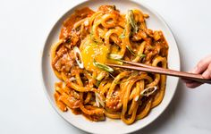 The power trio of butter, kimchi, and gochujang produces an umami ballad so beautiful in this udon recipe, you'll want to play it over and over again.