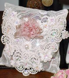 Large Roses Victorian Ribbon Roses Sachet 12594 by rosepretties,