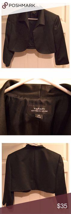 TAHARI Black Mini Shoulder Blazer Size 14 shoulder blazer from Tahari. Tahari Jackets & Coats Blazers