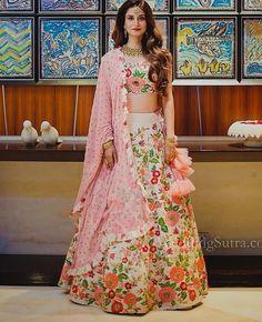 Multicolor Embroidered Attractive Pakistani Style Party Wear Lehenga Choli new style of bridal lehenga choli online shopping for wedding lehenga in india Party Wear Lehenga, Bridal Lehenga Choli, Indian Lehenga, Lengha Dress, Choli Dress, Mehndi Dress, Saree Blouse, Indian Wedding Gowns, Indian Bridal