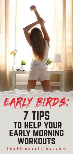 Early Birds: 7 Tips to Help Your Early Morning Workouts Try these 7 tips to help you ease into an early morning workout routine. via The Fitness Tribe – Yoga Benefits Of Morning Workout, Morning Workout At Home, Morning Workout Quotes, Morning Workout Motivation, Morning Workout Routine, Morning Gym, Early Morning Workouts, Gym Routine, Fitness Motivation