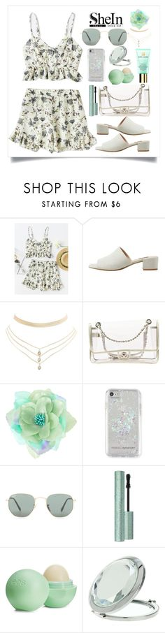 """""""0718"""" by chanelsdoll ❤ liked on Polyvore featuring MANGO, Charlotte Russe, Chanel, Rebecca Minkoff, Ray-Ban, Eos, Miss Selfridge and Estée Lauder"""