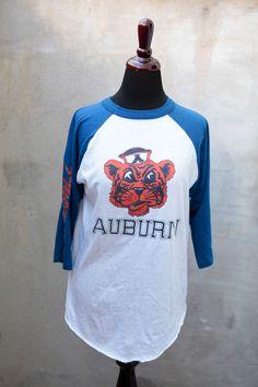 vintage AUBURN TIGERS 1983 SEC Football Champs 3/4 sleeve shirt Mint size medium. $40.00, via Etsy.