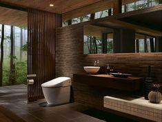 Toilet Room, Contemporary Interior Design, Amazing Architecture, Bathroom Interior, Master Bathroom, Interior And Exterior, New Homes, House Design, Home Decor