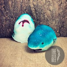 Shark bites are NEVER fun, unless they're in your bath tub. Shark Mouth, Fizzy Bath Bombs, Shark Bites, Bath Tub, Sweet Almond Oil, Bee, Clay, Rustic, Money